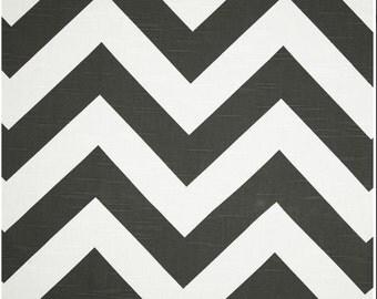Valances.Charcoal.Window Treatment.Charcoal and white.Zippy.big zig.Designers pattern.Choose  your sizes.cm