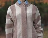 Retro wool striped sweate...