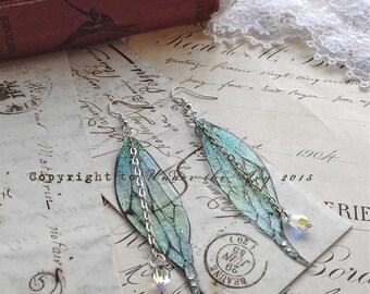 """Pretty """"New"""" Water faerie wing earrings"""