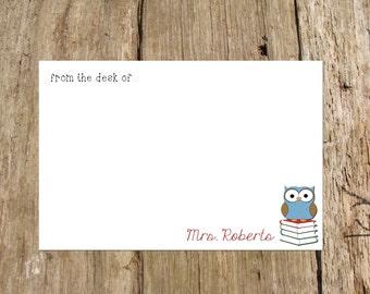 Personalized Teacher Flat Note Card, digital DIY printable