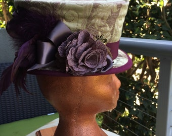 Top Hat - Madhatter - Plum Rose