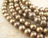 Round Brass Beads From the Villages of Ethiopia! African Metal Beads - Brass Spacers - Wholesale African Beads - Brass Beads 250