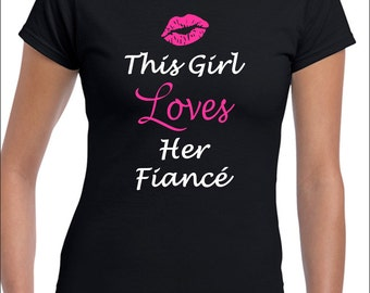This Girl Loves Her Boyfriend T-Shi rt, Fiancé Husband Gift Ideas For ...