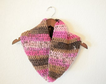 Pink Multicolored Cowl