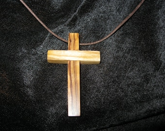 Pastor Gifts-Gifts for Teachers-Cross-Necklace-Pilgrim Olive Wood Cross Necklace-Baptism-Confirmation-Graduation-Hostess Gifts