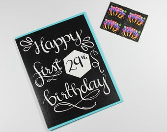 Birthday Card, Funny Birthday Card, Friend Birthday Card, Family Birthday Card, 29th Birthday Card, Happy First 29th Birthday