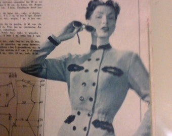 Repro jacket knitted 1940 hand