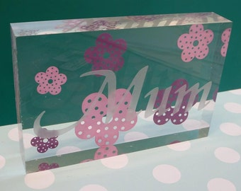 Personalised Acrylic Blocks