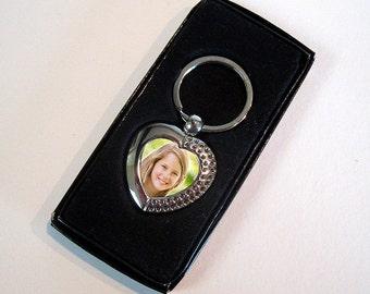 Personalised Metal Photo Keyrings - Custom Made