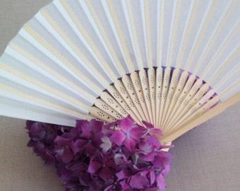 Eventail en papier blanc, white paper fan