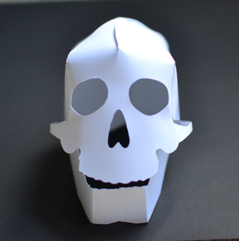 DIY 3D Paper Skull Craft Kit Kids Craft Kit By ThePaperIguana