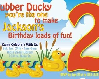 Rubber Ducky Birthday Party Invitation