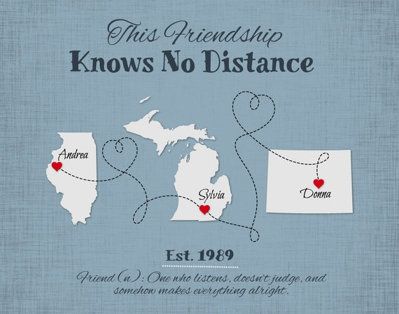 Cute Quotes About Friends Moving Away : Long distance gift for best friends popular moving away