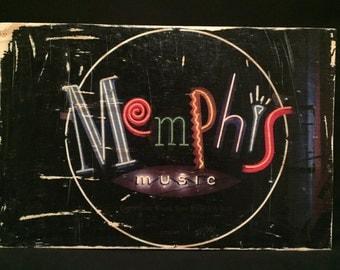 Memphis , Beale Street, Photo Transfer, Decor