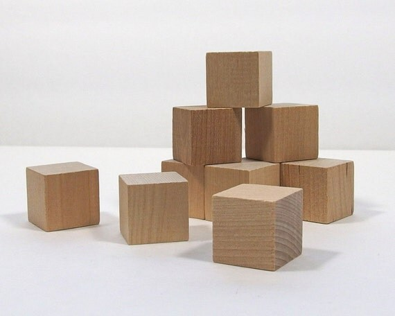 2 inch wood blocks 6 pieces solid hardwood by busylittlebird. Black Bedroom Furniture Sets. Home Design Ideas