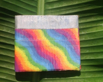 Rainbow Duct tape wallet