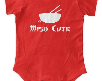 Miso Cute Sushi Baby One Piece Funny baby Gift Body Suit Gifts Graphic Infant Clothing Baby Shower Gift Short Sleeve Bodysuit
