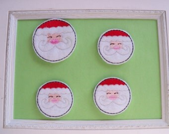 Santa Face Feltie , Card Making, Scrapbooking,Bow Center