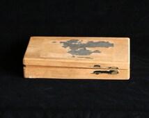 Vintage timber cigar box