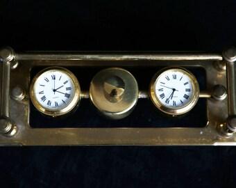 Japanese brass vintage desk clocks