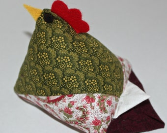 Quilted Hen Pincushion - large