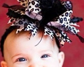 Boutique Bow w/ Crochet Headband