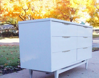 "Portfolio Custom Kent Coffey ""the Tableau"" Dresser Changing Table in Ivory Lacquer *not for sale Let me customize something special for you!"