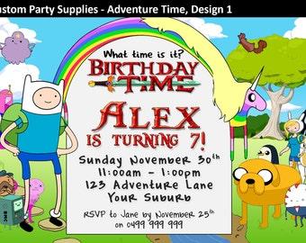 Alfa Img Showing Adventure Time Invitation Template
