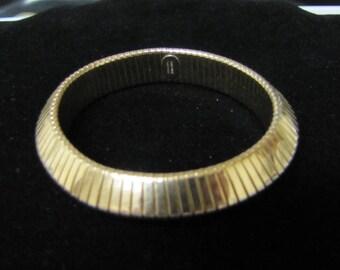 RARE and Highly Collectible Vintage Art Deco 1930's-1940's 12K Gold Filled Forstner Gaspipe Bracelet