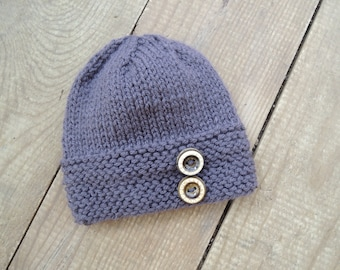 Knitting Pattern - Bee Hat with Buttons  - Instant Download PDF - sized for Newborn, Baby, Toddler, Child
