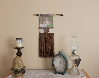 Earth Toned Hand Woven Wall Hanging