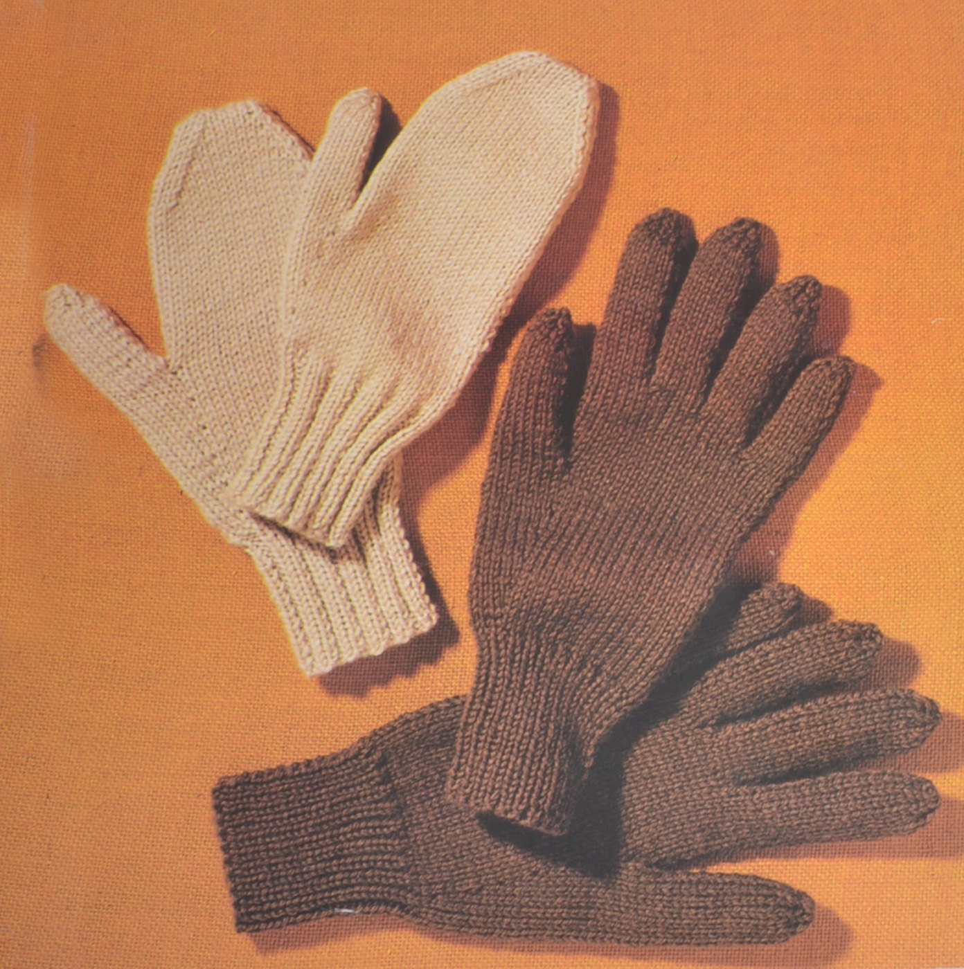 Mens Mittens Knitting Pattern : PDF vintage knitting pattern mens mittens gloves pdf