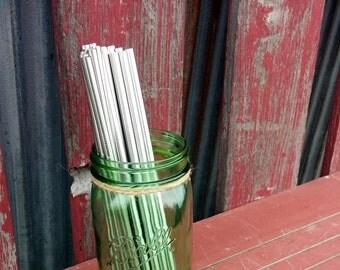 "Yeti Straw 6mm Stainless Steel Straws 9.5"" DIY Mason Jar Straw Lids Tumbler Straws   Long Straws   Reusable Straws   Mason Drinking Glass"