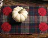 Holiday Plaid Penny Rug, FAAP, OFG, HaFair, CIJ