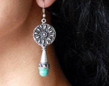 OTTOMAN EARRINGS / / silver plated earrings / / Turkish jewelry/gift for you / turquoise / Istanbul jewelry