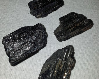 "Raw Black Tourmaline 1 1/2"" to 2"" / Stone of Protection / Grounding / Calming"