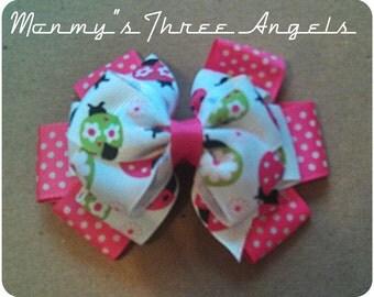 Polka Dots and Ladybugs Hair Bow READY TO SHIP
