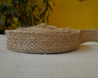 1 inch wide natural Burlap trim Jute trim by the yard
