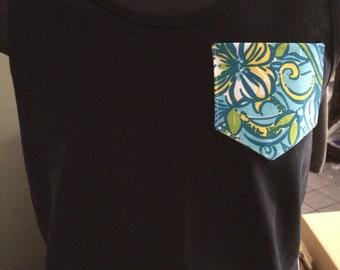 Tri Delta /  Delta Delta Delta Lilly Pulitzer Pocket Tshirt