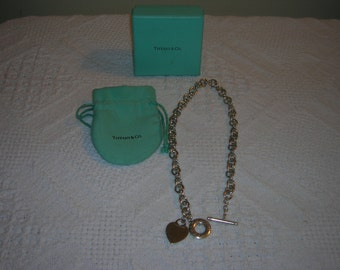 Tiffany toggle  necklace vintage authentic