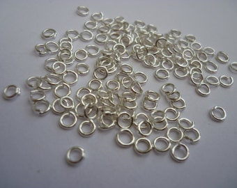 200 Open Jump Rings 4mm Silver Plated 4 x 0.70mm - FD206S