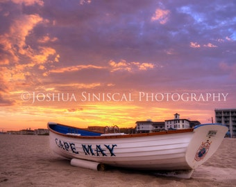 Lifeboat Sunset. Cape May, New Jersey