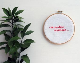 Con erótico resultado - Pink - 15cm Embroidery Hoop