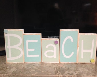 Beach Wooden Blocks