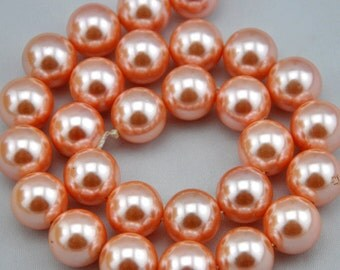 1 Strand 29pcs 14mm Freshwater Pearl, pink Pearl Beads,14mm Pearl,Shell pearl has,Gemstone Beads--- J0095