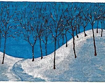 Winter Woods (ORIGINAL DIGITAL DOWNLOAD) by Mike Kraus