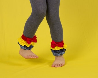 Girls ruffle leggings, diy, baby tights, footless, with Swappable ruffles and bows 0-12m to 6-8y