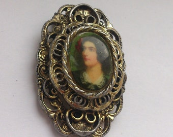 vintage brooch, cameo brooch Jerry's jewelry