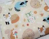 Organic baby blanket. Woodland Animals. Fox, Rabbit. Gender neutral. Organic Baby blanket. Woodland Baby Blanket by Avie and Mabel.