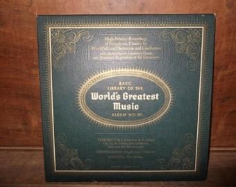 Basic Library of the World's Greatest Music, #20, 1950's, Tchaikovsky, Mendelssohn, Smetana, 33 RPM-long play